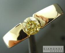 .59ct Fancy Yellow SI2 Round Brilliant Diamond Ring GIA R7278 Diamonds By Lauren