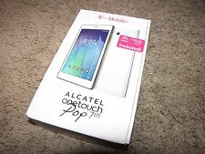 "*T-MOBILE* ""One Touch Pop 7 LTE"" 7"" Tablet 9015W White JBL Kit NEW NIB"