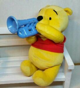 Disney Fisher Price MAKIN MELODIES POOH Horn Plays 5 Songs & Winnie talks 2002