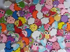 Cute Colourful Wooden Beads for Bracelets Necklaces Kids Craft Wood Animals UK