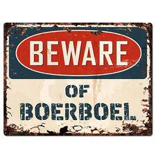 PPDG0087 Beware of BOERBOEL Plate Rustic TIN Chic Sign Decor Gift