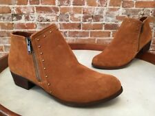 Minnetonka Brown Suede Brie Studded Ankle Boot 9 40 New