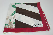 AUTH VINTAGE LANVIN PARIS SILK SCARF/SHAW  MADE IN FRANCE