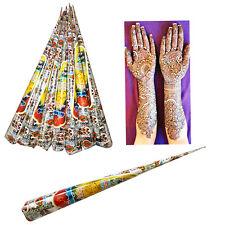 6 x Kit de tatuaje más oscuros de Henna Mehndi Conos De Pasta - 100% garantía de color