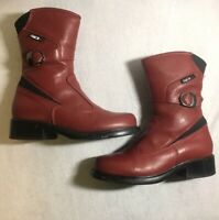 Sidi Lei Womens Boots Sz 6.5 Black Rose Tepor Waterproof Touring Motorcycle Red