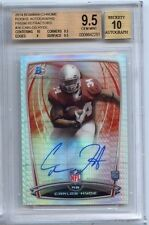 2014 Bowman Chrome Carlos Hyde On Card Auto RC PRISM Refractor /5 SP BGS 9.5