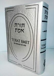 TORAT EMET - Biblia hebrea - judía. Jumash. Tora. Silver -  Plateada de lujo