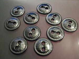 Larp #37 Blusen- Hemdenknöpfe 8x interessante Metallknöpfe 12mm