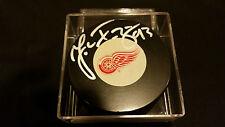 Johan Franzen signed Detroit Red Wings Official Autograph Puck COA!