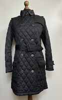 Women's Barbour Black Long Sleeve Jacket Size US 10/EUR 40/UK 14 Outdoor Belt
