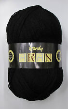Wendy Aran With 25 Wool Yarn Black Shade 0468 400g Ball
