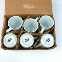 Set 6 TUXTON White Restaurant Ware Grade Tea Coffee Cups NEW 6.75 oz Diner Style