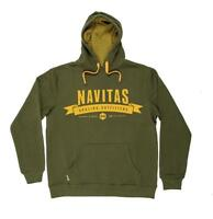 New Navitas Apparel Outfitters Hoody Green - All Sizes - Carp Fishing Clothing