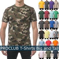 PROCLUB Mens T Shirts HEAVY BIG AND TALL TEE Hip Hop short Sleeve XL-5XL Plain