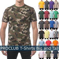 PROCLUB Mens T Shirts HEAVY BIG AND TALL TEE Hip Hop short Sleeve XL-5XL Plain