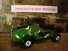 1994 ACTION COMMAND Design SUPER CANNON✰Army green camo; white✰Hot Wheels loose