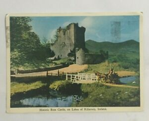 IRISH POSTCARD ROSS CASTLE LAKES OF KILLARNEY