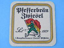 Rare Beer COASTER ~ Dampfbierbrauerei Zwiesel Bier Since 1889 ~ Bavaria, Germany