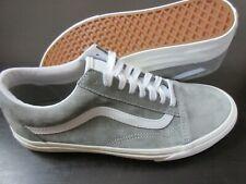 Vans Women's Old Skool Pig Suede Drizzle Grey White shoes Water Repel Size 9 NIB
