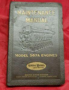 General Motors Rock Island 1944 Diesel Engine Maintenance Manual-6-8-12 +16-567A