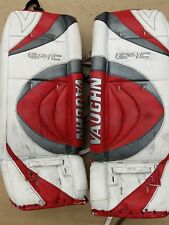 "Vaughn Epic 34""Hockey Goalie Pads Red And White"