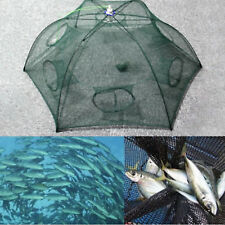 Fishing Bait Trap Crab Net Crawdad Shrimp Cast Dip Cage Fish Minnow Foldable US