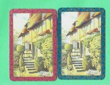 2 PLAYING SWAP CARDS ENN ANN HATHAWAYS COTTAGE PRETTY GARDEN