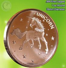 """""""Unicorn"""" 1 oz .999 Copper Round"""