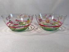 Rare Sanrio Hello Kitty Rainbow Fruit Plastic Bowls 2-Piece Set, 2004