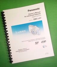 COLOR PRINTED Panasonic DMC-LX7 Advanced Camera 226 Page Owners Manual Guide