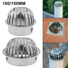 Floor Drain Stainless-Steel Anti-Clogging Exhaust Pipe Gutter Protection Silver