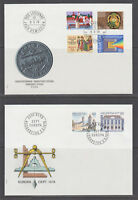 Switzerland Mi 1116/1141, 1978  issues, 5 cplt sets on 5 cacheted official FDCs