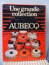 advertising pub carton plaque 60.70's AUBECQ casserole et autres tole emaillée