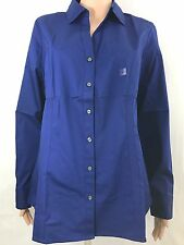 NWT  Express Women's long sleeves shirt, Blue, Large, 2004-728