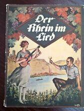 W ORTMANN 1925-LE RHIN EN CHANSONS - DER RHEIN IM LIED - PARTITION - RARE -TBE