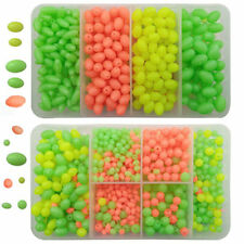 1000pcs Assorted Carp Fishing Lures Oval Plastic Beads Sea Fishing Lure Tackle