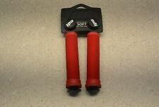 ODI BMX Dirt Jump Grips Red Longneck Handle Grips Soft Pro Compound