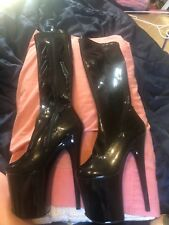 black knee high pleaser boots size 7