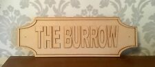Harry Potter Wooden Sign.               (The Burrow)