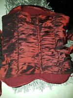 Christmas boned corset size 10 by top shop