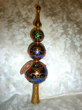 Christopher Radko Majestic Jewel Colorful Glass 1018521 Finial Tree Topper
