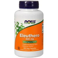NOW Foods Eleuthero, 500 mg, 100 Veg Capsules