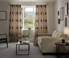 """FINAL REDUCTION Extra Wide 204""""X83"""" John Lewis CURTAINS Mink Cream&Brown Floral"""