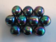 "10 Rainbow Highly Magnetic Hematite 1"" round Spheres, AKA Zinger Magnets"