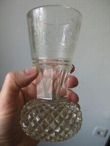 original antik alt Logenglas Freimaurer Glas Kanone um 1880 Dr. Colberg Berlin ?