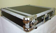 """2 HE 19"""" Effekt / Verstärker Rack Flight Case, 43 cm tief, Double Door, TEGO PRO"""
