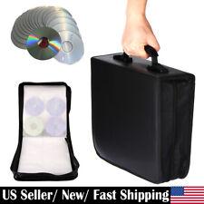 350 Discs CD DVD Storage Box Wallet Holder Binder Book Carrying Bag Zipper Case