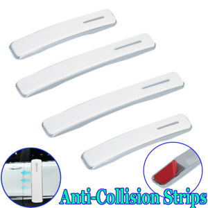 4pcs Car Body Door Edge Scratch Anti-collision Protector Guard Strip Sticker Bar