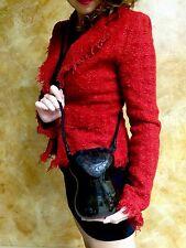 "NWT Timmy Woods Handmade ""Rena Rose"" Leather Crossbody Satchel Clutch Purse RARE"