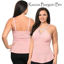 New Ladies Pink Tailored Top Plus Size 14/1XL (1114)PA